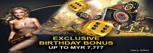 Empire777 birthday bonus
